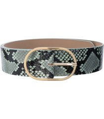 b-low the belt emmie python print belt - green