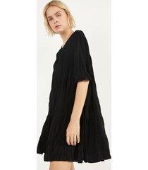 babydoll-jurk met gekreukt effect