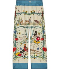 gucci x disney pajama trousers - neutrals