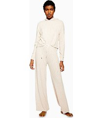 lounge soft ribbed trousers - oatmeal