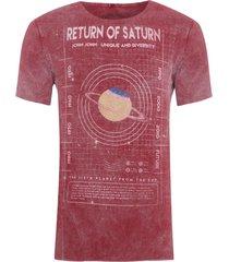 t-shirt masculina rg saturn - vinho