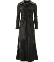 nanushka faux leather tarot dress