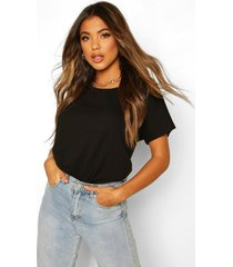 basic oversized top met kapmouwtjes, zwart