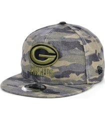 new era men's green bay packers worn camo 9fifty cap