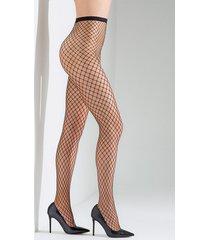 natori maxi net tights, women's, black, size l natori