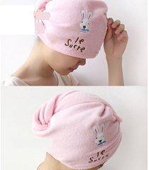 home-cartoon-rabbit-super-absorbent-dry-hair-hat-magic-dry-hair-towel--shipping