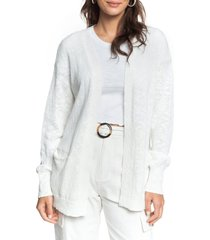 women's roxy valley shades cardigan, size x-small - white