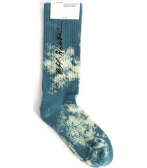 tie dye cursive logo socks