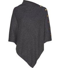 poncho gold buttons poncho regnkläder grå davida cashmere