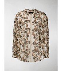 dsquared2 floral-print collarless shirt