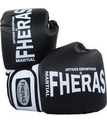 luva boxe muay thai fheras new orion pró preto/branco