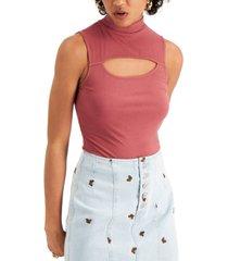self esteem juniors' mock-neck cutout bodysuit