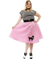 buyseasons women's poodle skirt bubblegum plus adult costume