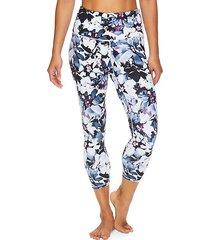 om high-rise floral capri leggings