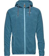 hareid fleece jkt sweat-shirt tröja blå bergans