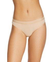 women's calvin klein second skin brazilian panties, size x-large - beige
