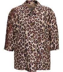 alberto biani animalier silk shirt