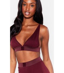 womens mouth off bralette and boxer shorts set - chestnut