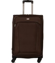 maleta de viaje mediana en lona con cuatro ruedas giratorias 94867