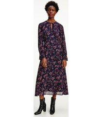 tommy hilfiger women's floral long sleeve midi dress wildfloral print / lakeside - 4