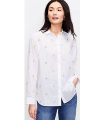 loft bicycle embroidered relaxed shirt