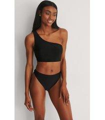 na-kd swimwear recycled bikinitrosa med hög midja - black