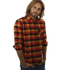 camisa multicolor redskin escocesa
