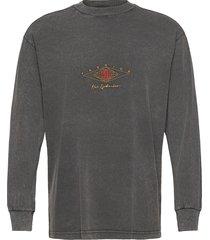 boxy long sleeve tee t-shirts long-sleeved grijs han kjøbenhavn