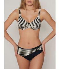 bikini admas goud en zwart 2-delig beugelbikini setje