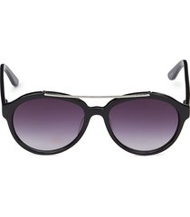 colors in optics women's 54mm oval sunglasses - black