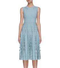 floral pattern sleeveless knit dress