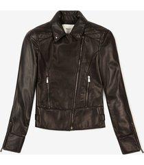 biker jacket black 44