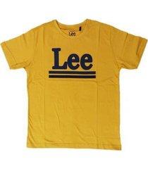 camiseta lee malha penteada 5257l manga curta masculina - masculino