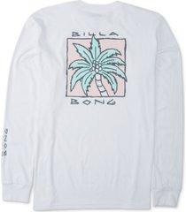 billabong men's king palm long-sleeve cotton t-shirt