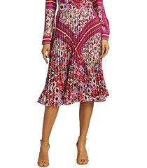 elie tahari women's delilah floral paisley skirt - size 10
