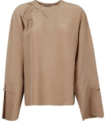 acne studios crinkled effect long-sleeved top