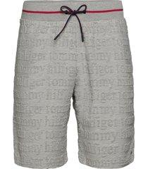 jersey short logo shorts casual grå tommy hilfiger