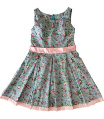vestido estampado liminha doce floral