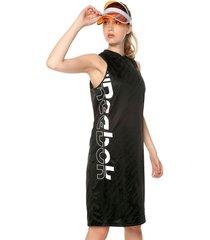 vestido negro-blanco reebok wor myt