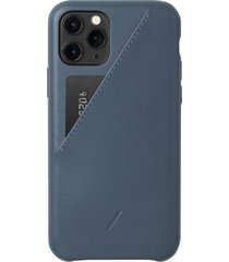 native union clic card iphone case - navy - iphone 11 pro