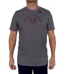 camiseta hurley df circle icon para hombre - gris oscuro