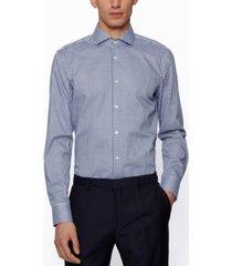 boss men's slim-fit checked shirt