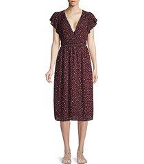 dot-print smocked dress