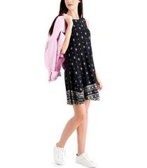style & co petite bandana print flip flop dress, created for macy's