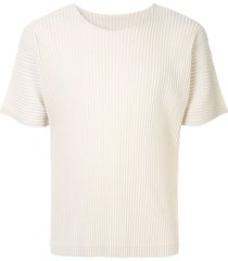 homme plissé issey miyake micro-pleated pullover - white