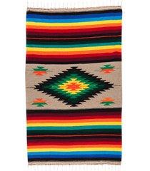 native yoga super diamond mexican blanket natural cotton