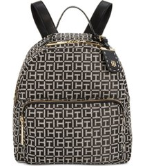 tommy hilfiger julia logo jacquard dome backpack, created for macy's