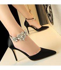 sandalias de mujer sandalias de tacón alto con punta en punta sandalias