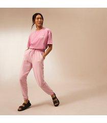 river island womens pink ri studio tie waist joggers