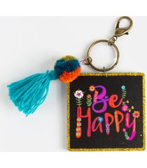 natural life® be happy key chain - multi